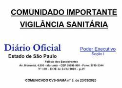 Comunicado Da Vigilância Sanitária